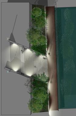 MEV projetée / Escalier du Lycée