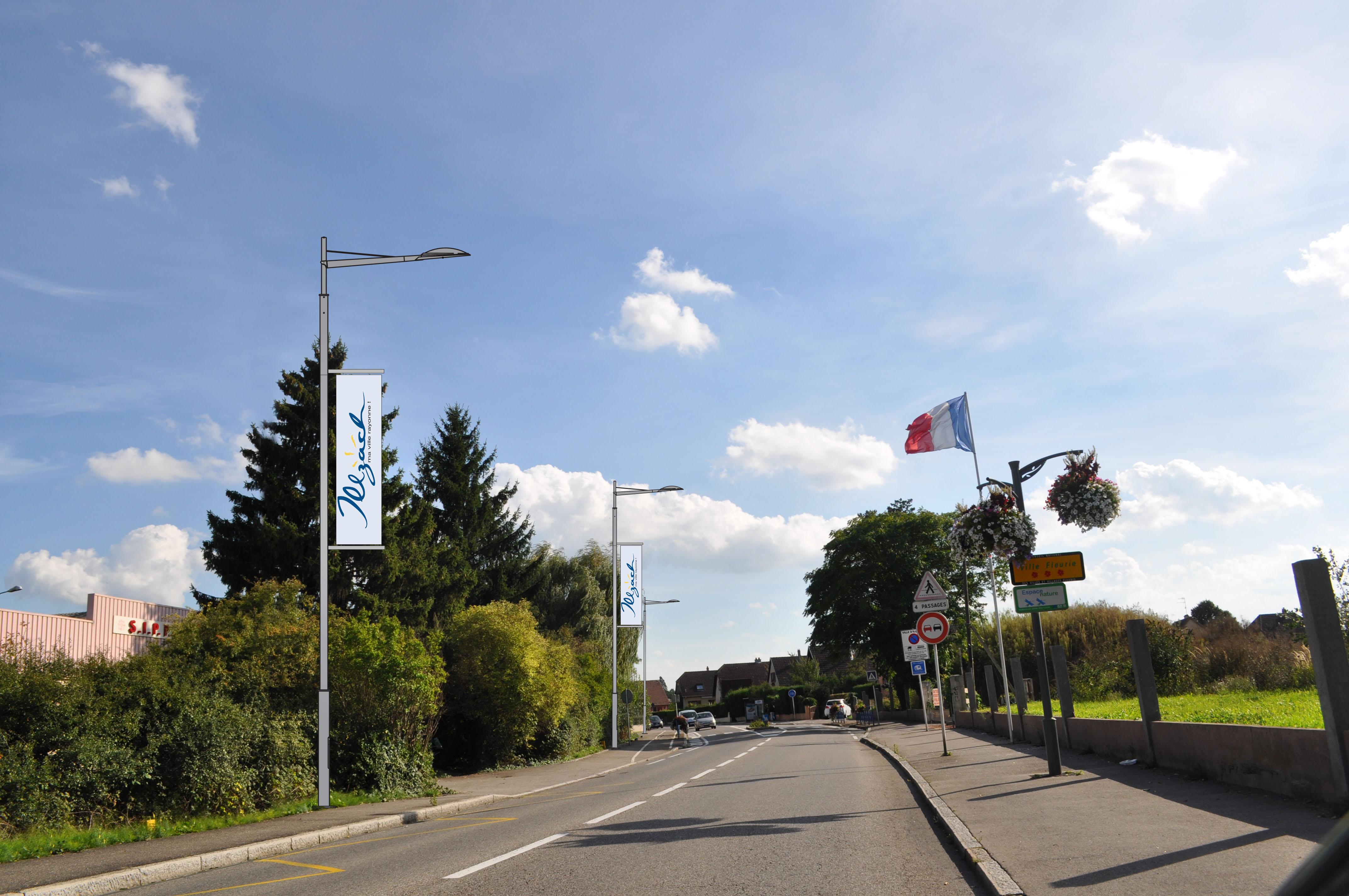 Entrée d'agglo / rue d'Illzach