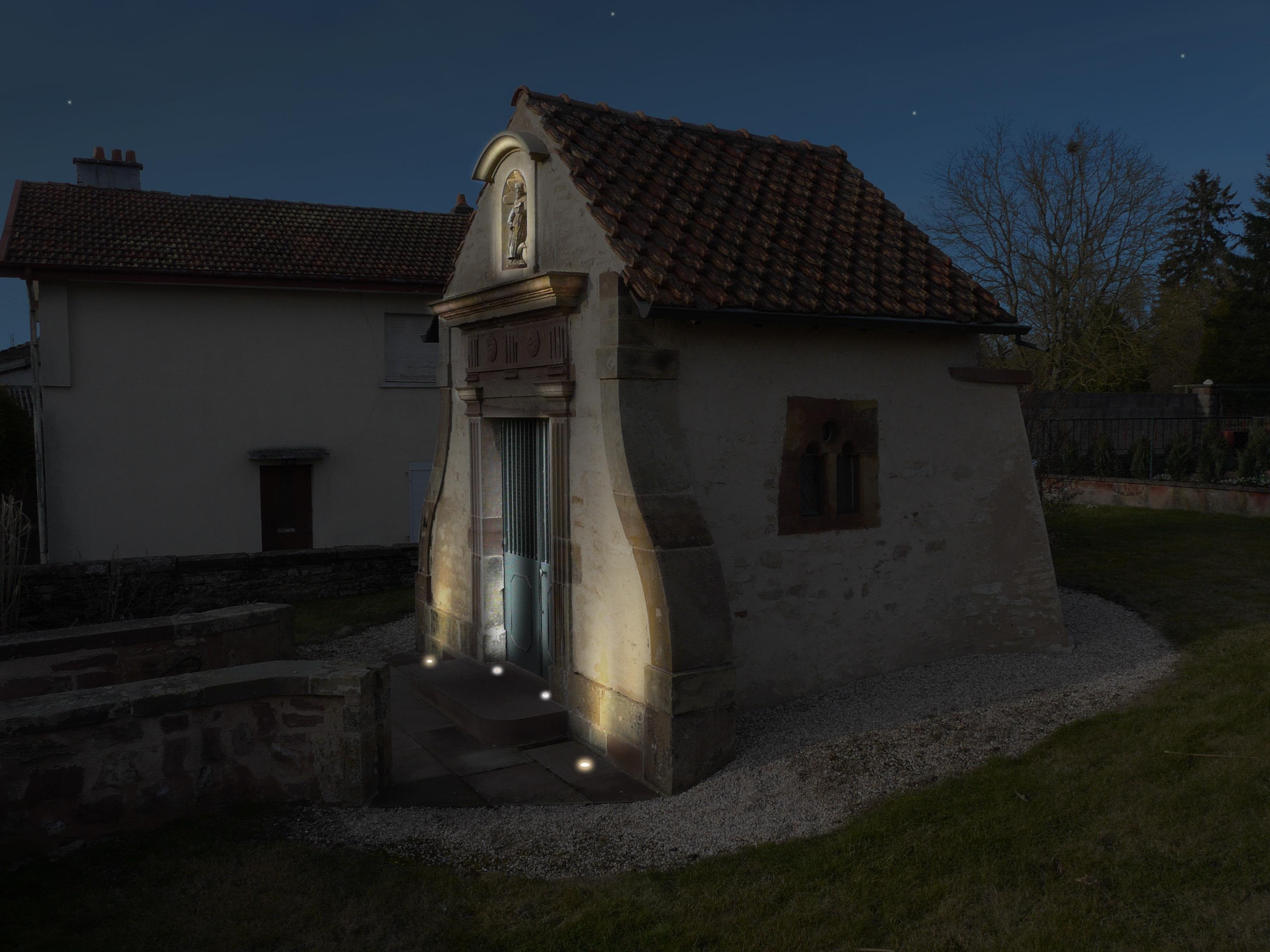 Plan lumière /Chapelle Saint Antoine