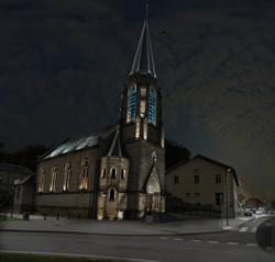 MEV projetée / Eglise protestante