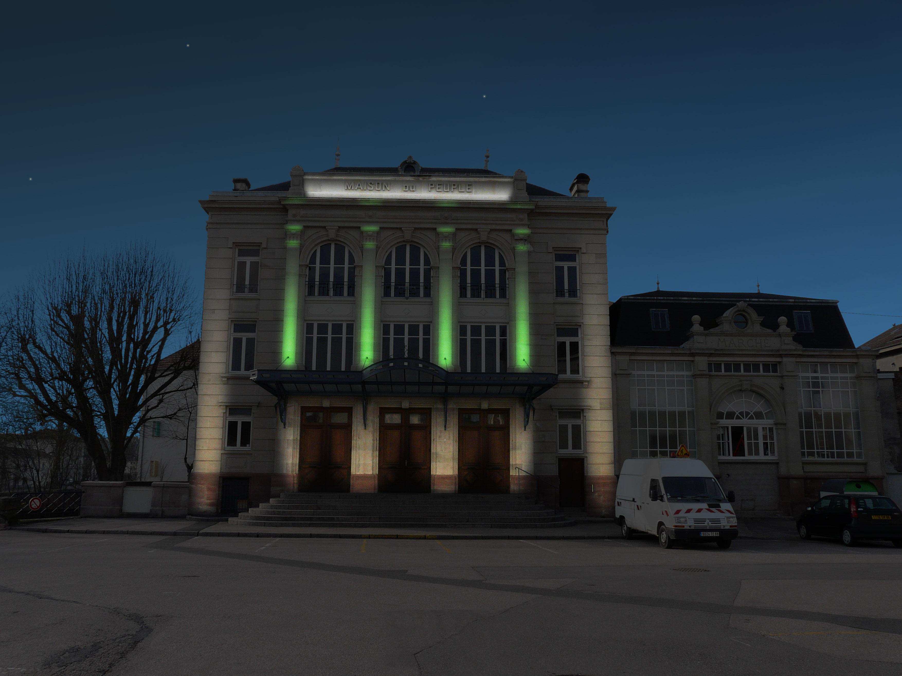 Plan lumière / Maison du peuple