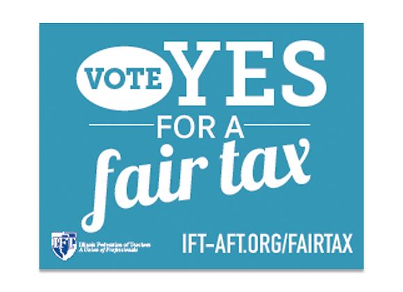 Fair Tax Yard Sign