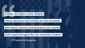 Illinois Federation of Teachers Statement on the Inauguration of Joe Biden as the 46th President