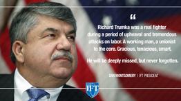 Illinois Federation of Teachers Mourns Passing of AFL-CIO President Richard Trumka