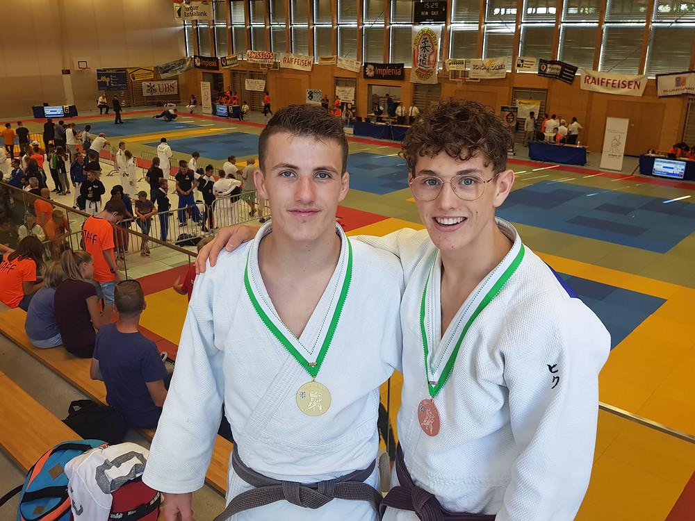 Yannick Wasem et Simon Rota