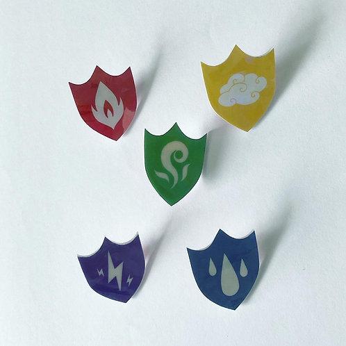 Element Emblem Pins