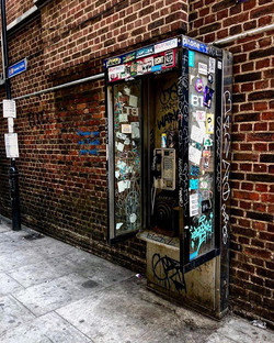 This phone box in Shadwell has been begg