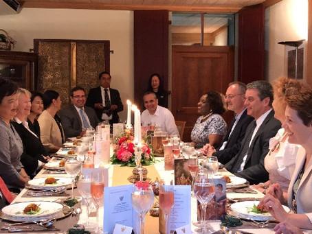ทูตไทยเลี้ยงต้อนรับผู้อำนวยการใหญ่ WTO และเอกอัครราชทูตจากหลายประเทศ