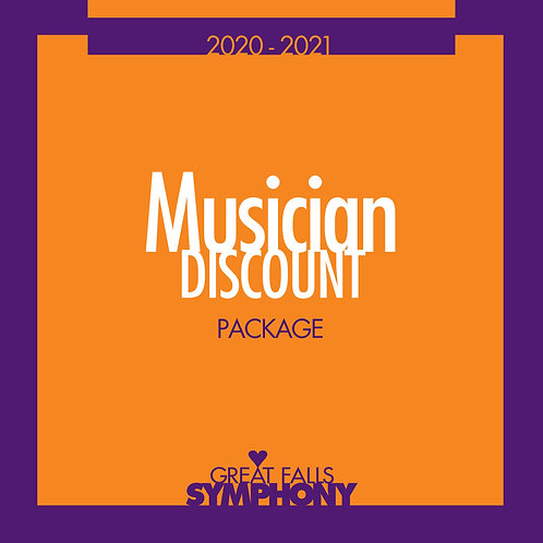 Musician Discount: All Seating
