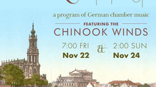 Chinook Winds Perform Kammermusik Konzert - a Program of German Chamber Music