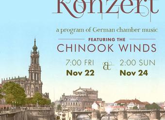 Chinook Winds Perform Kammermusik Konzert - a Program of German Chamber Music