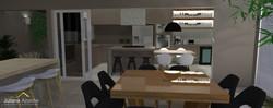 Cozinha e Lazer Integrados