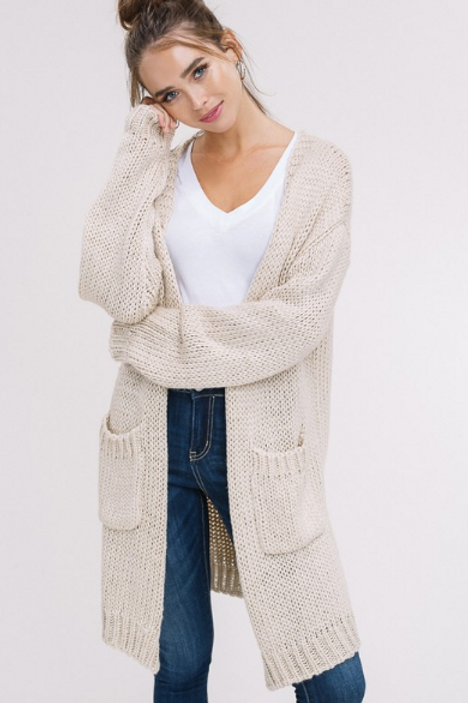 SEPIA CHUNKY LONG KNIT