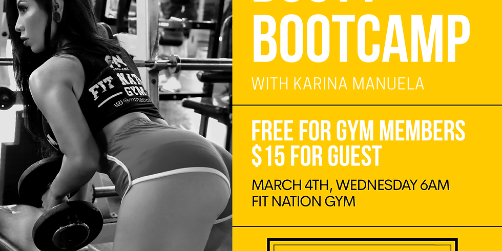 Booty Bootcamp at Fit Nation Gym
