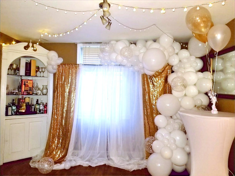 Balloons and Backdrop Combo
