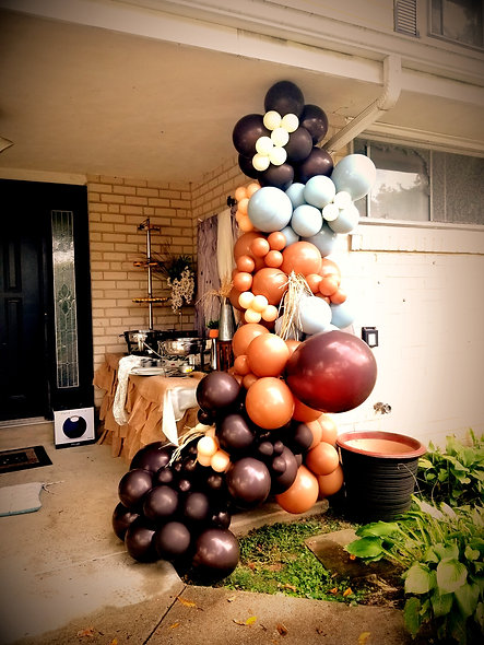 Organic Balloon Installation (8 ft and larger-$15 per foot)