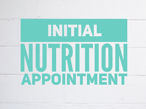 1 Hour Nutrition Appointment