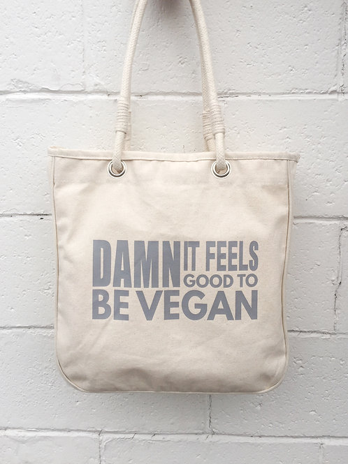 Damn It Feels Good To Be Vegan Organic Tote
