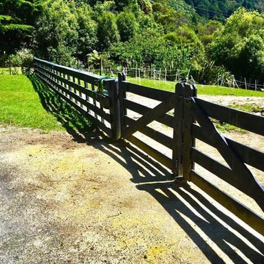 Wooden farm fence