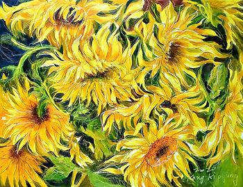 Ki-pyung Kong, Dancing Sunflowers 2,  Oi