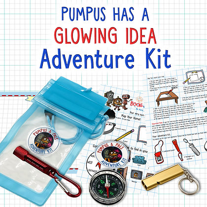 Pumpus has a Glowing Idea Adventure Kit and Video Story