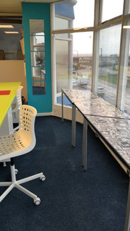 Beautiful view of Morecambe prom with our flexible desk rental