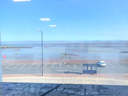 The View of Morecambe bay Prom from our offices