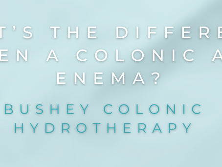 What's the difference between a Colonic and an Enema?