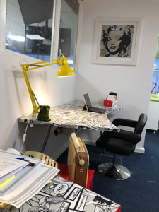 Our host desks, for flexible working can be hired by the hour for £2.50