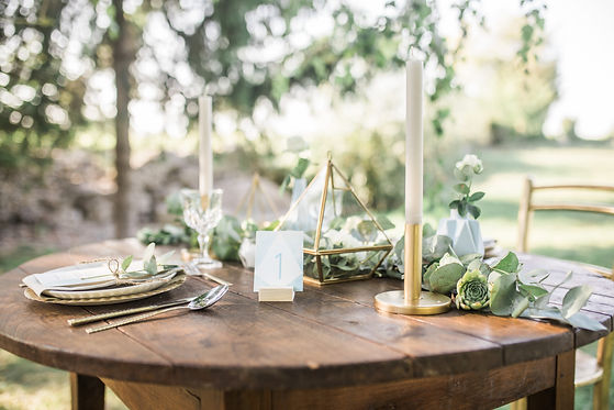 boho wedding reception table setup, rust