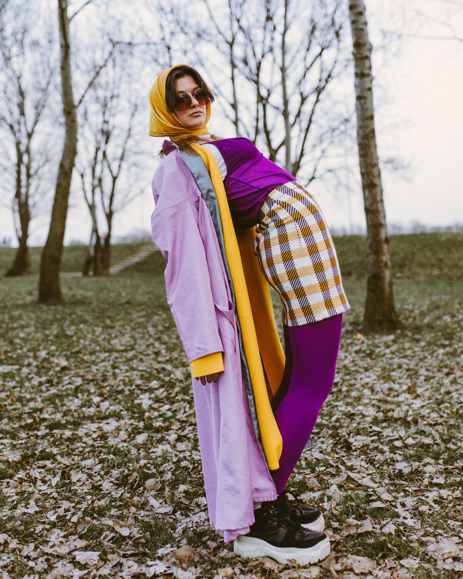 Fashion editorial styled portrait