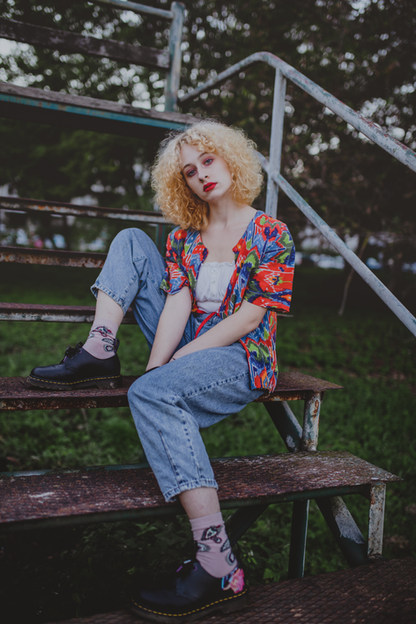 Editorial fashion portrait