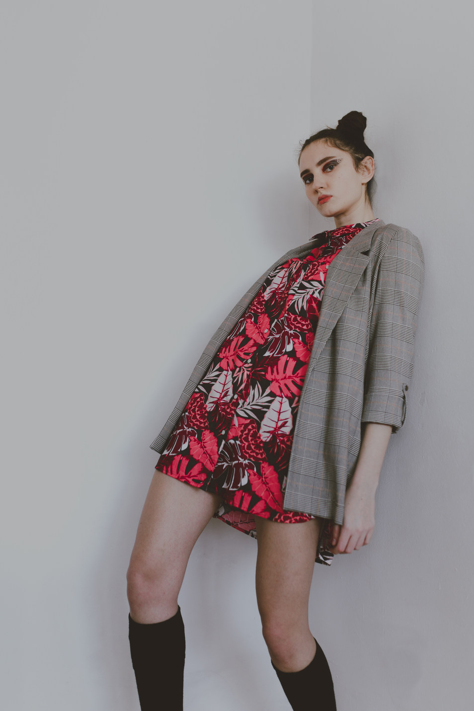 Editorial styled fashion portrait