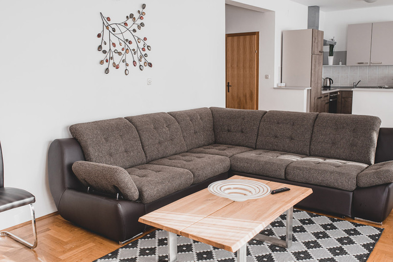 Airbnb living room in Zagreb