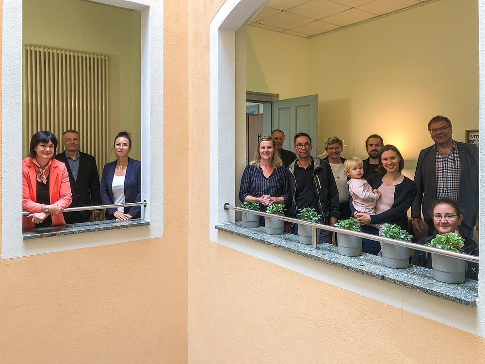 Das Team beim ersten Treffen in den Räumen der VSWG in Dresden.