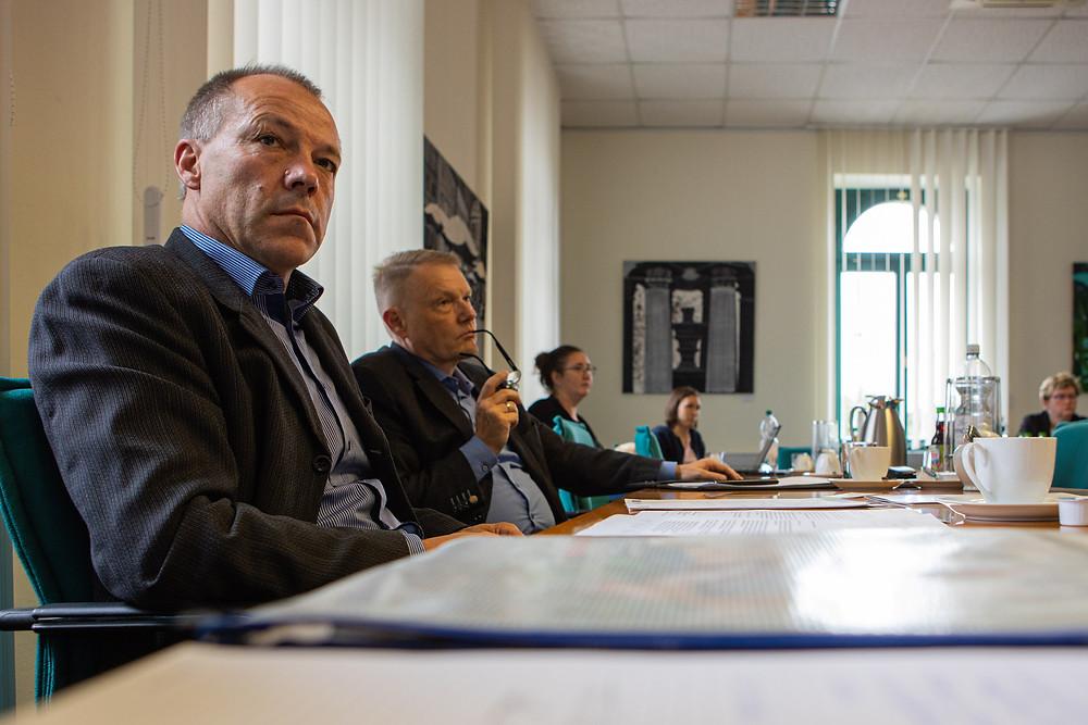 Herr Gerlinghoff (links) und Herr Steinhorst vom Fachkräftewerke Oberlausitz.
