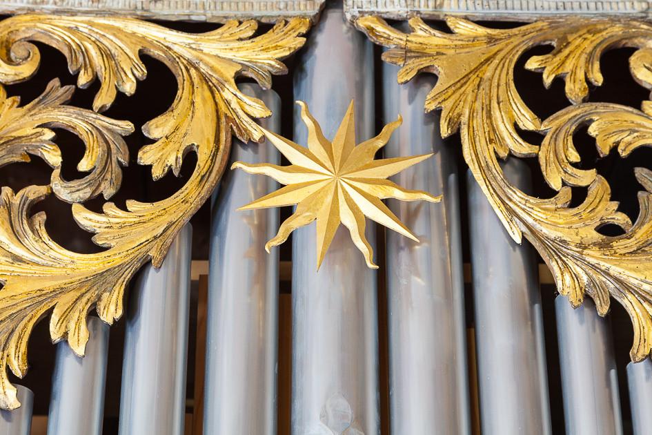 Alte Kirche Orgel coswig - Detail_zimbel