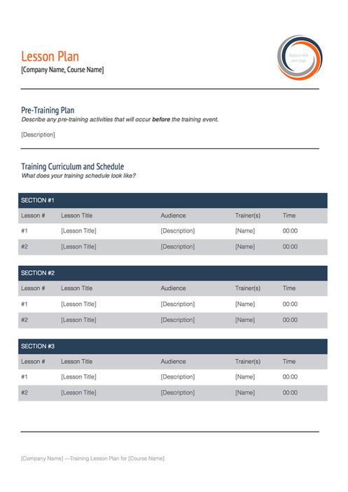 Training plan template - Instructional design plan examples ...