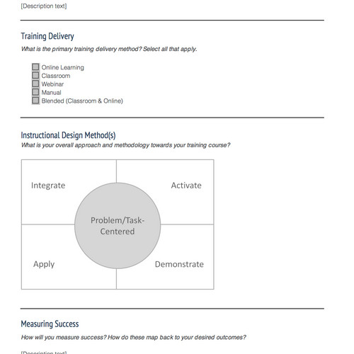 instructional design templates instructional design central idc