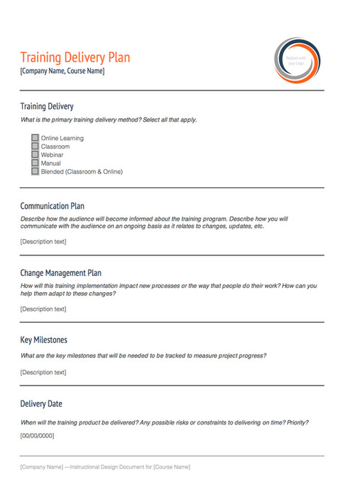 Instructional design template kit it all starts with a clear and comprehensive blueprint the instructional design document kit is carefully crafted design document to help learning malvernweather Choice Image