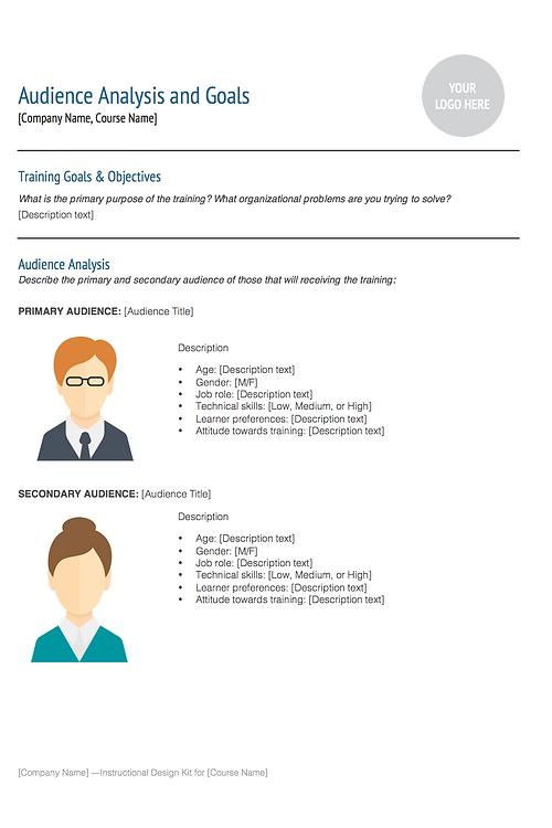 Instructional design template kit instructional design document template malvernweather Images
