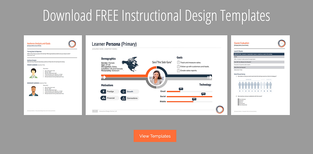 Instructional Design Templates