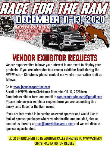 Vendor Exhibitor Requests