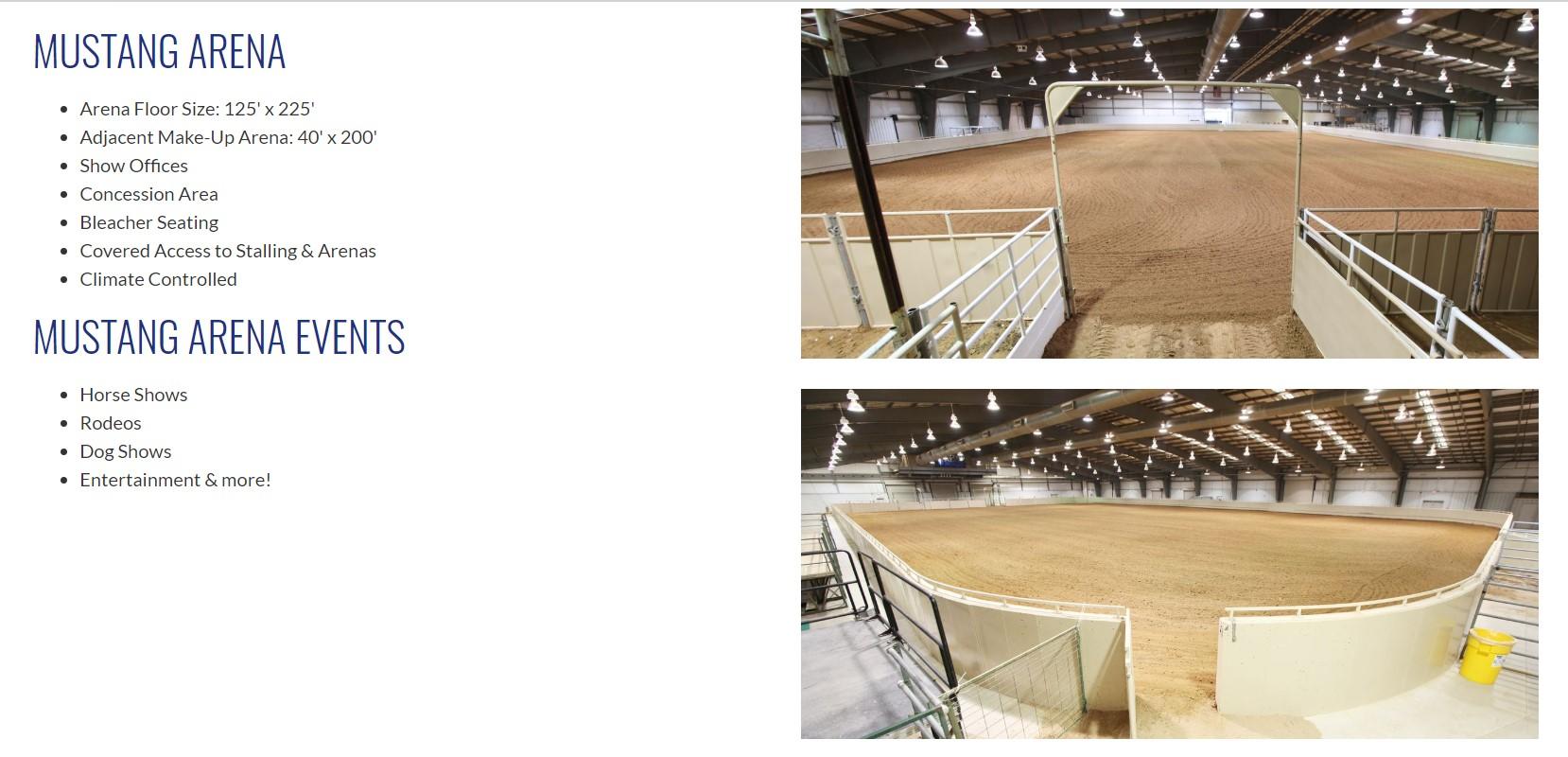 Mustang Arena Details