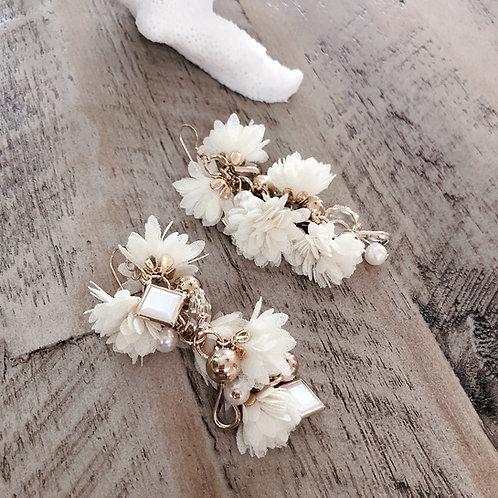 Chiffon Flower-Cream