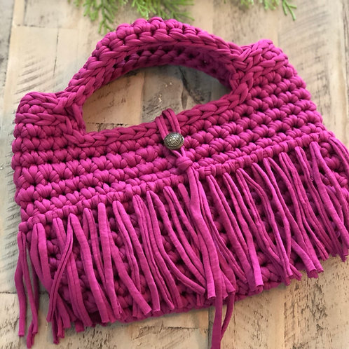 Mini fringe-hot pink