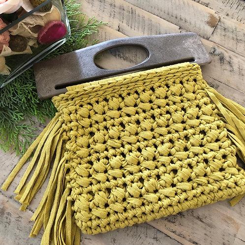 Plastic handles Side fringe-Yellow