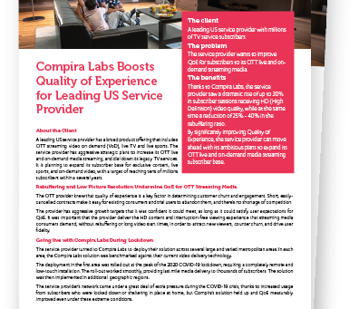 [CASE STUDY] OTT provider boosts QoE with Compira Labs
