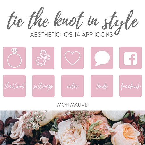 Aesthetic iOS14 Apple App Icons | Maid of Honor Mauve