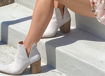 4 Ways to Style White Bridal Booties